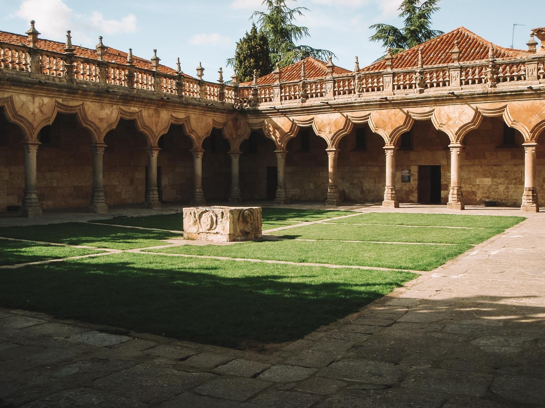 spain salamanca courtyard cloister