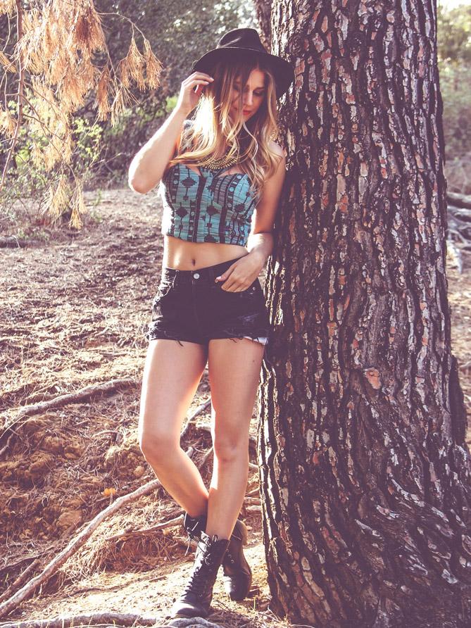 Coachella High Waisted Shorts