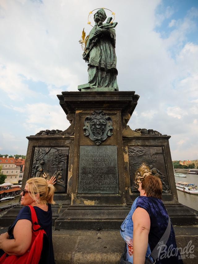 Lucky statue Prague