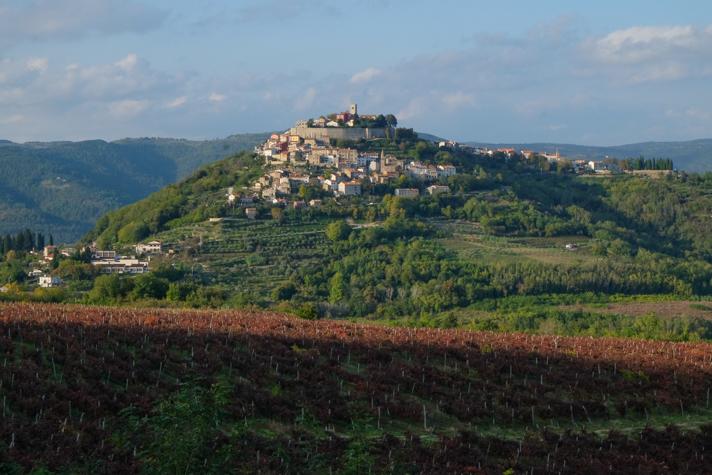 The hilltop city of Motovun