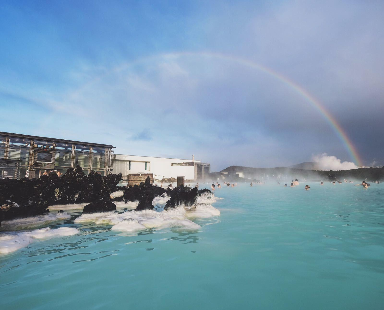 Rainbow over the Blue Lagoon
