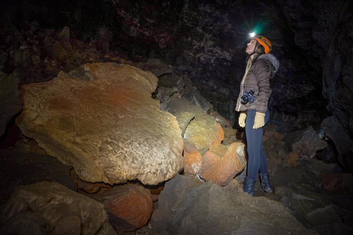 Lava Tube Caving Iceland
