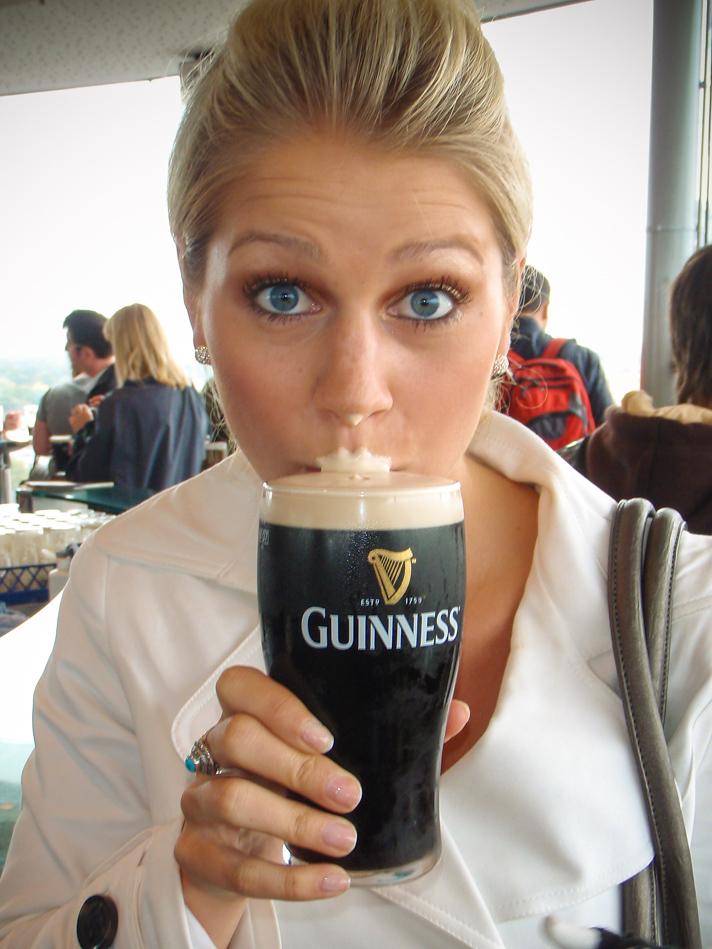 Grabbing a Guinness in Dublin