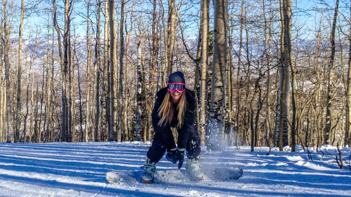 Blonde Snowboarder