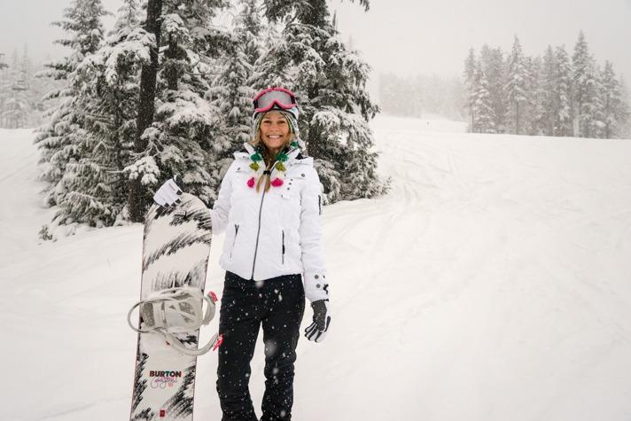 Blonde Snowboarding 30