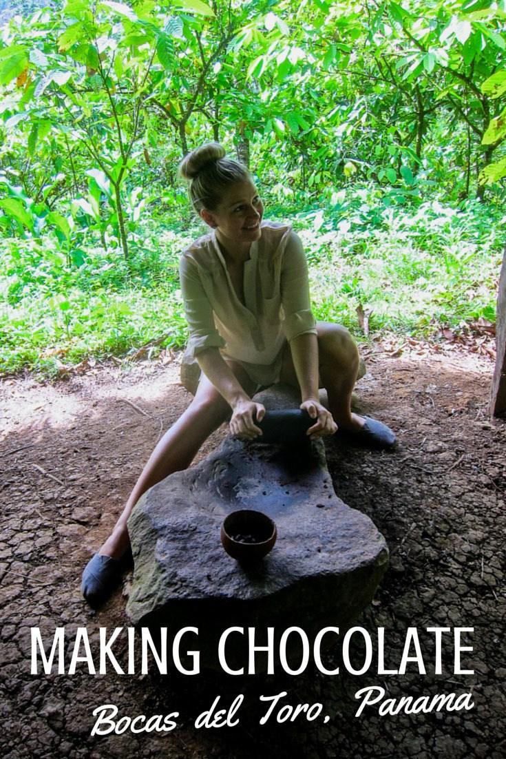 MAKING CHOCOLATE in bocas del toro