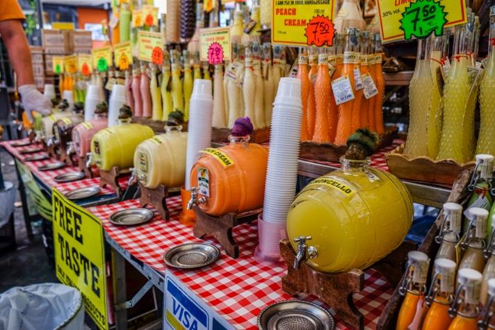 Limoncello at Italian Market in Rome