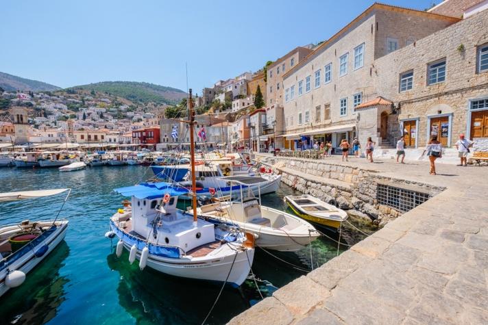Boats in Hydra Greece