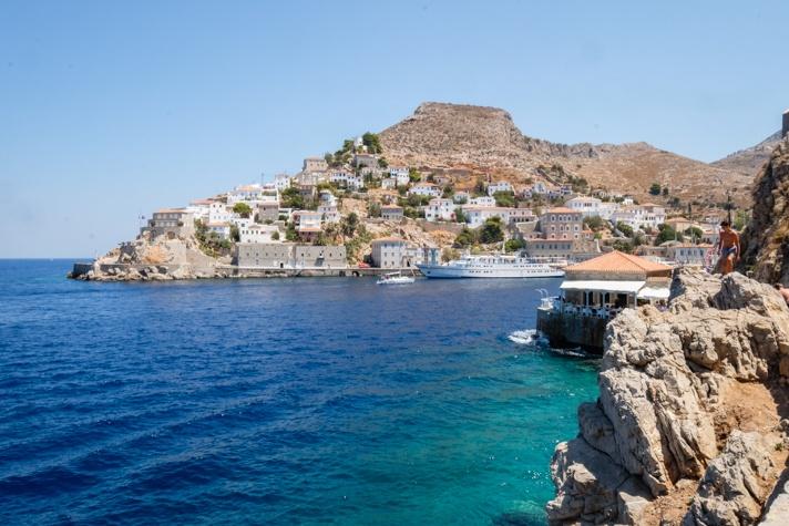 Ocean view in Hyrda Greece