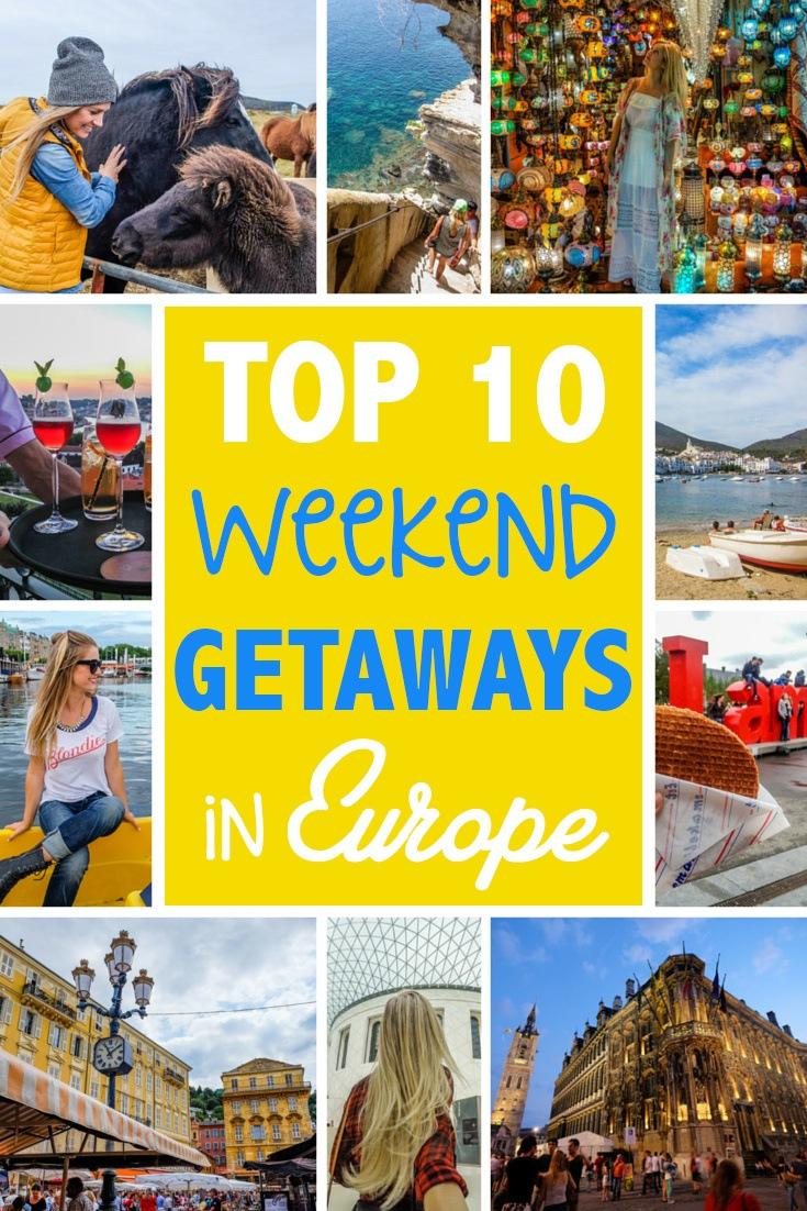 Top 10 Weekend Getaways in Europe