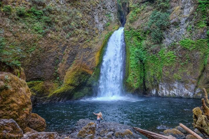 Wahclella Falls in Portland