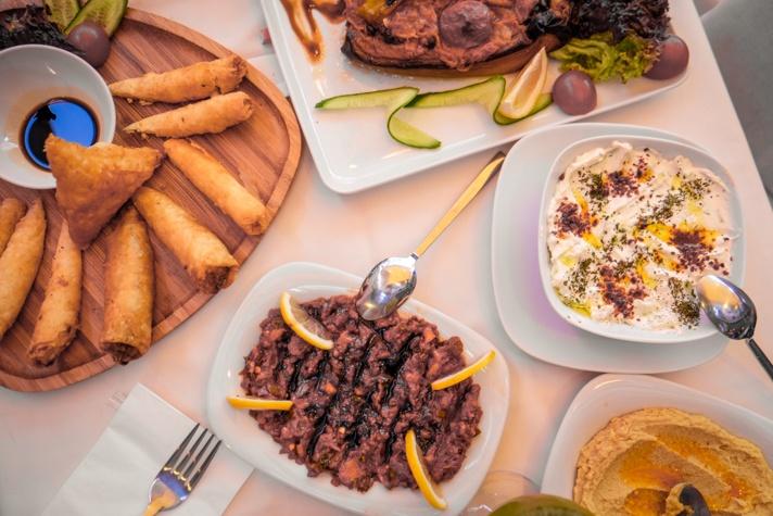 Istanbul food spread