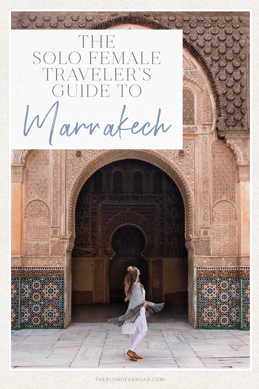 Solo Female Guide Marrakech