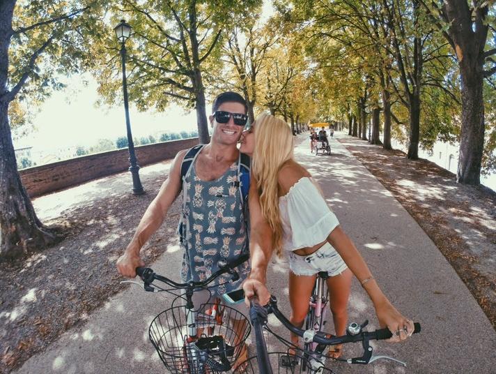 Biking in Lucca, Italy