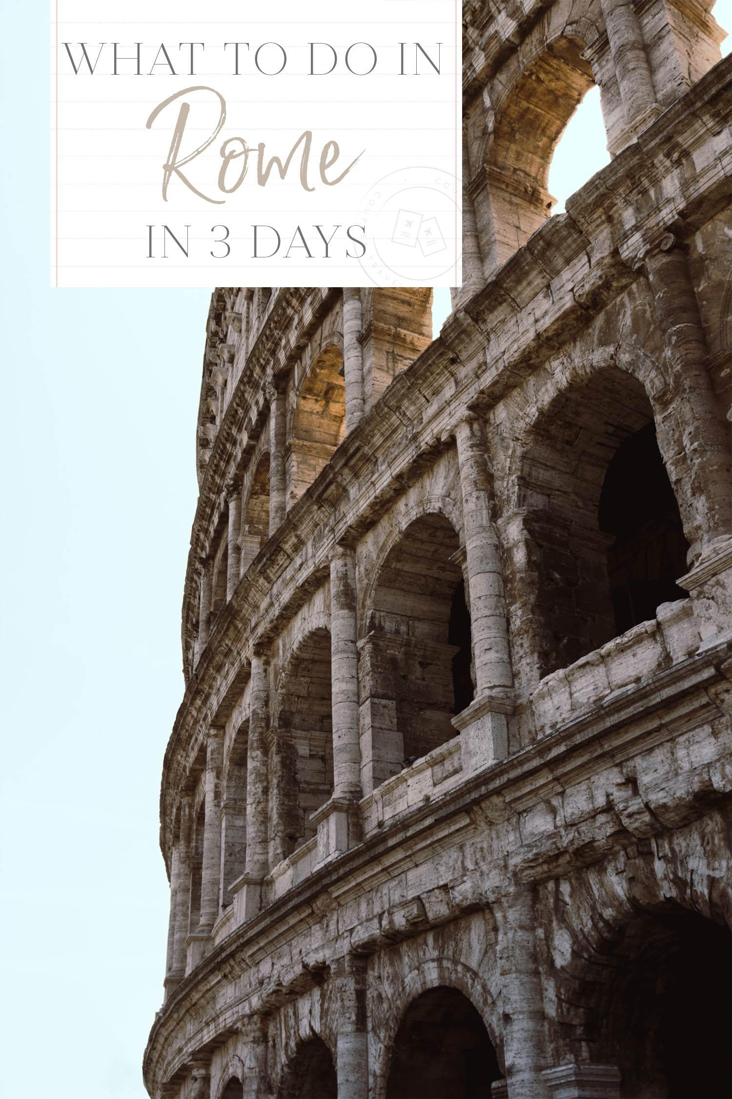 Rome 3 Days