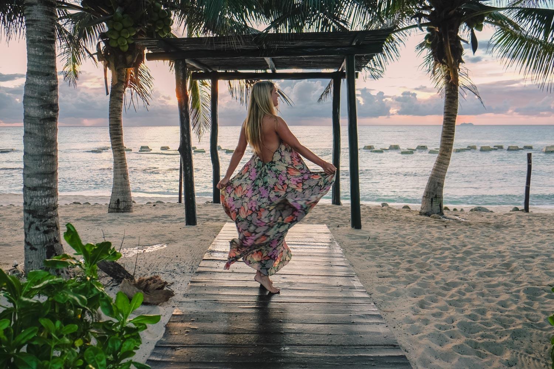 Blonde in Riviera Maya