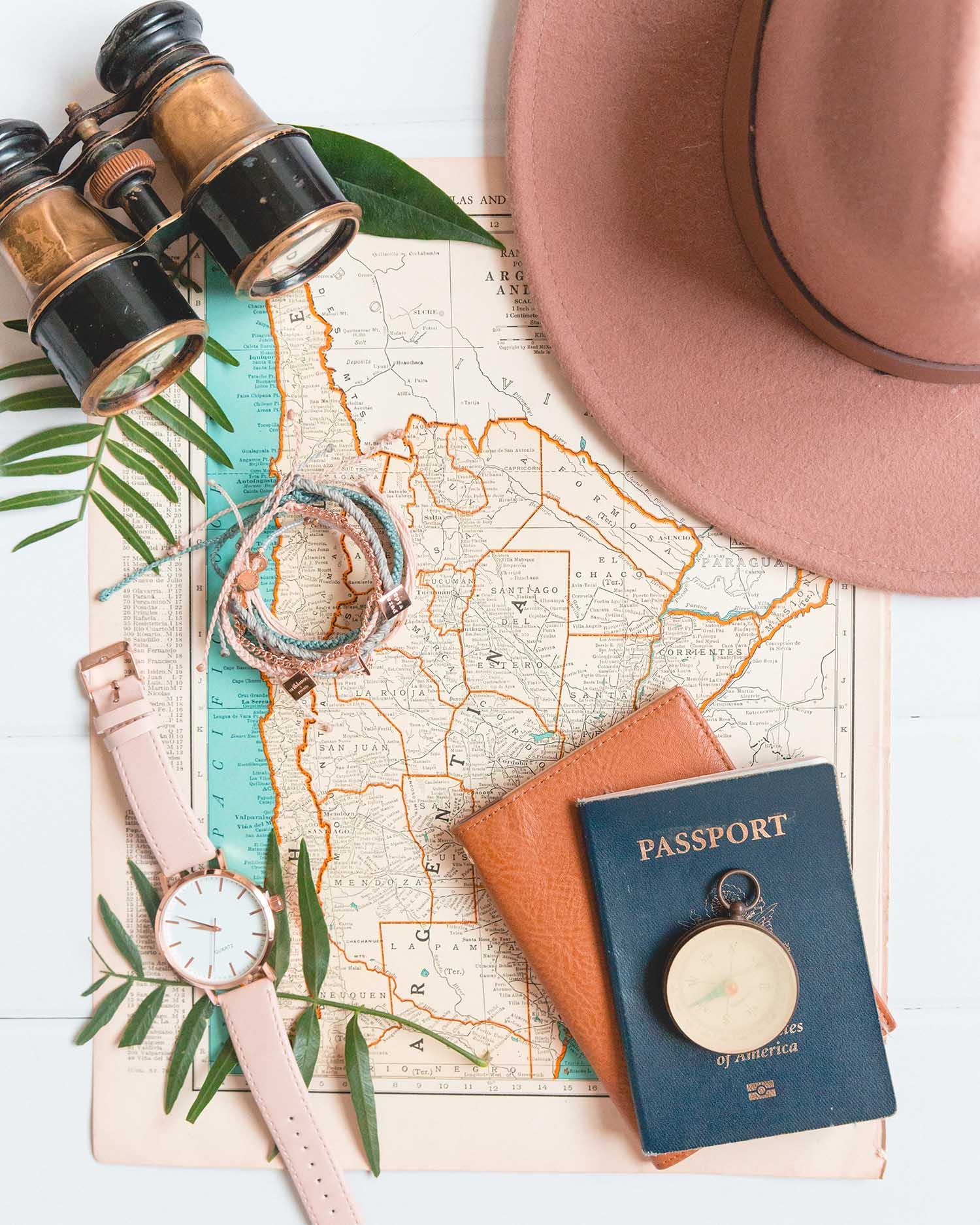 Travel Passport Flat Lay