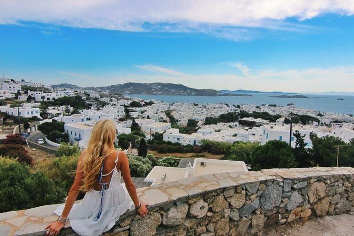 Overlooking Mykonos Greece