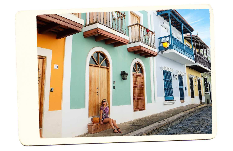 old san juan colorful street