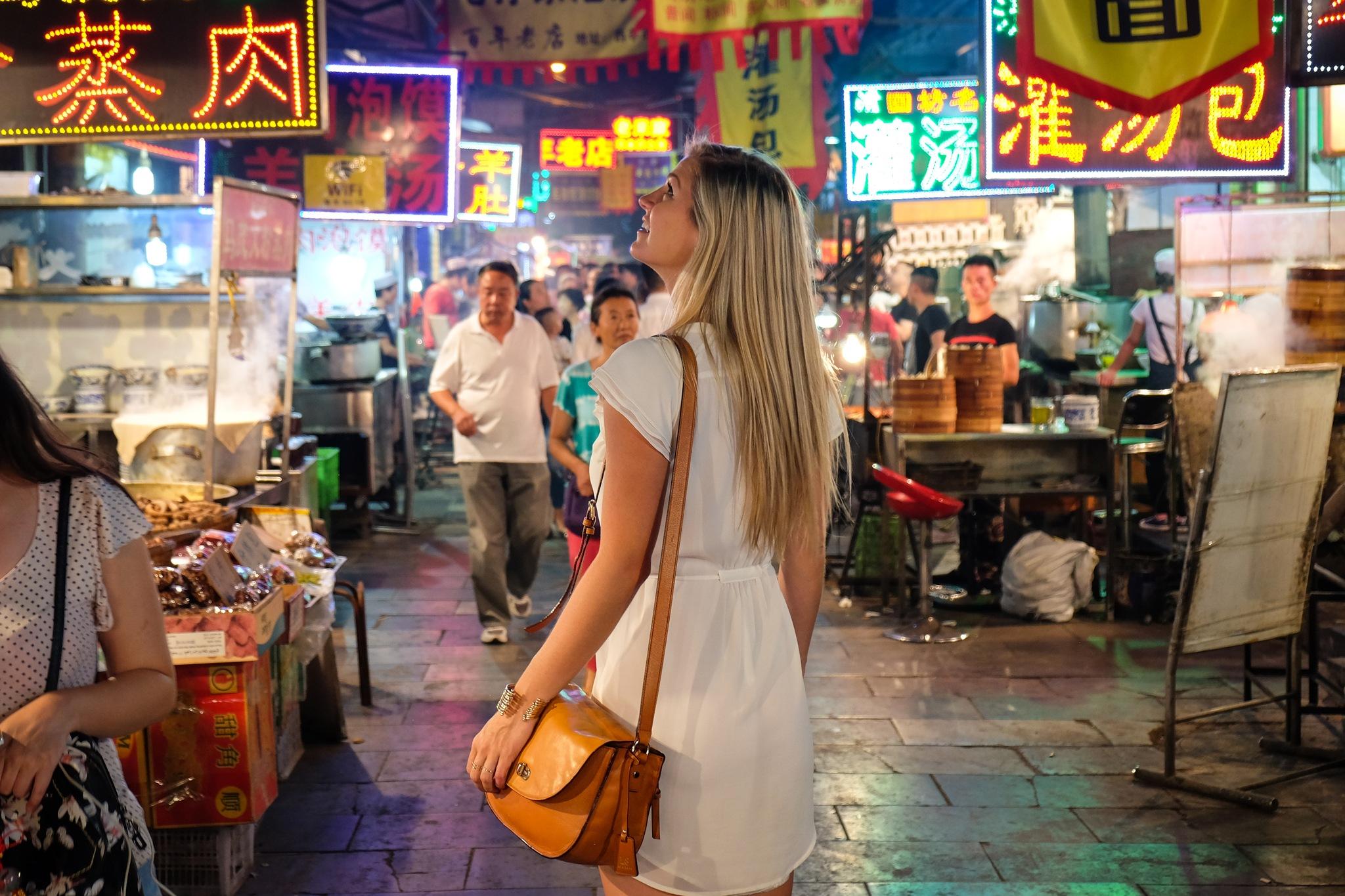 Visiting the Muslim Street Market Xian
