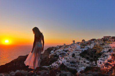 Couples in Santorini