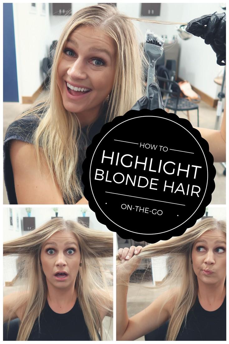 Highlight Blonde Hair on the go