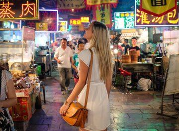 blonde in china