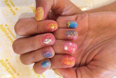 Jill & Lovers Mermaid Nails in Tokyo
