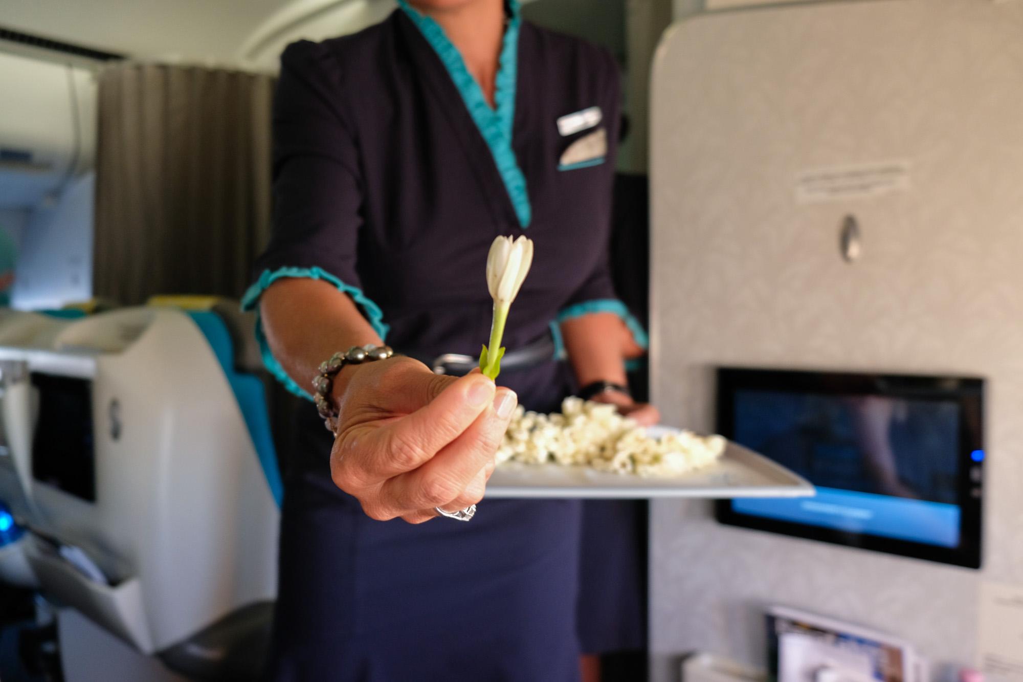 Air Tahiti Nui Business Class Flight from LA to Tahiti