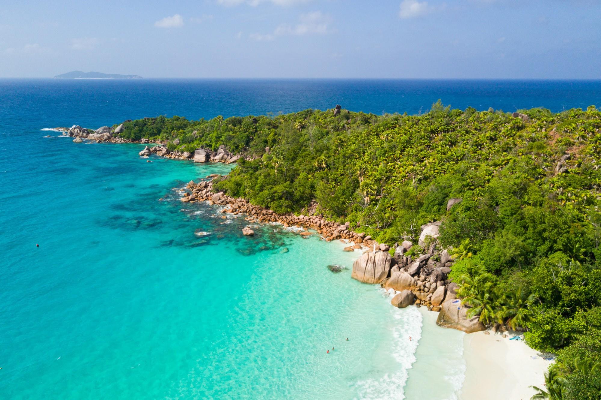 Praslin Island in the Seychelles