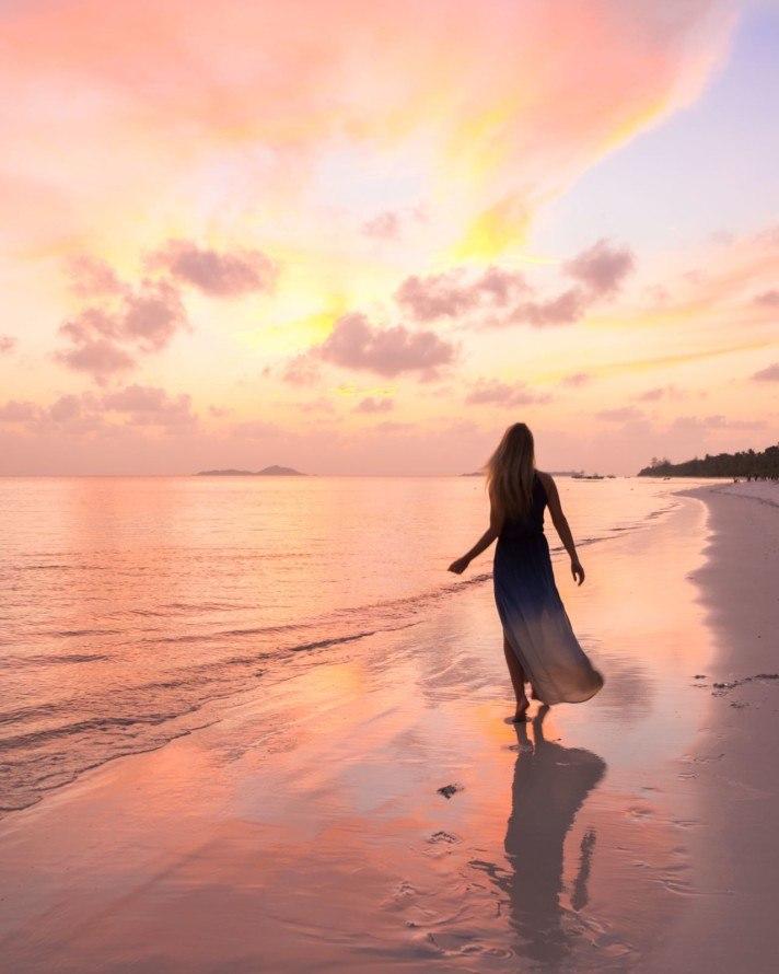Sunset on Praslin