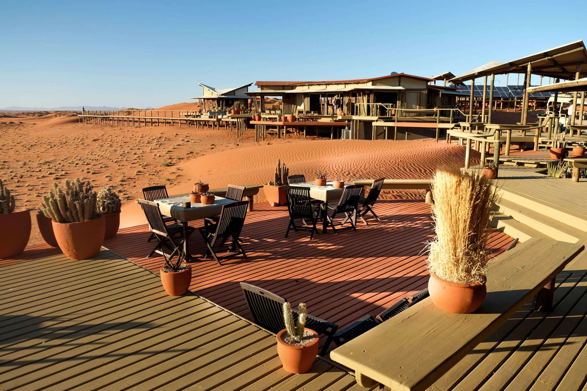 wolwedan dunes lodge outside deck