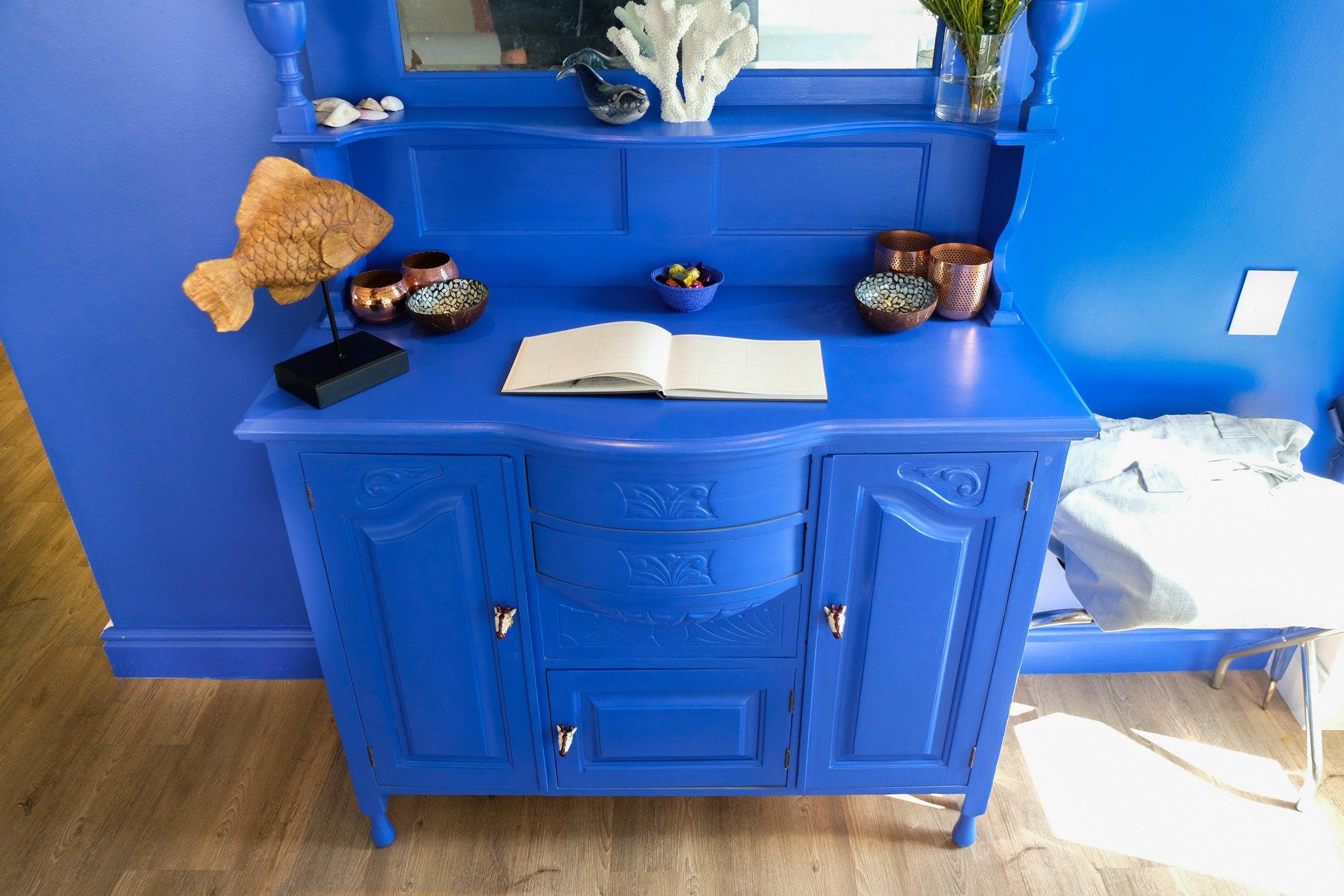 blue dresser at one marine drive hotel