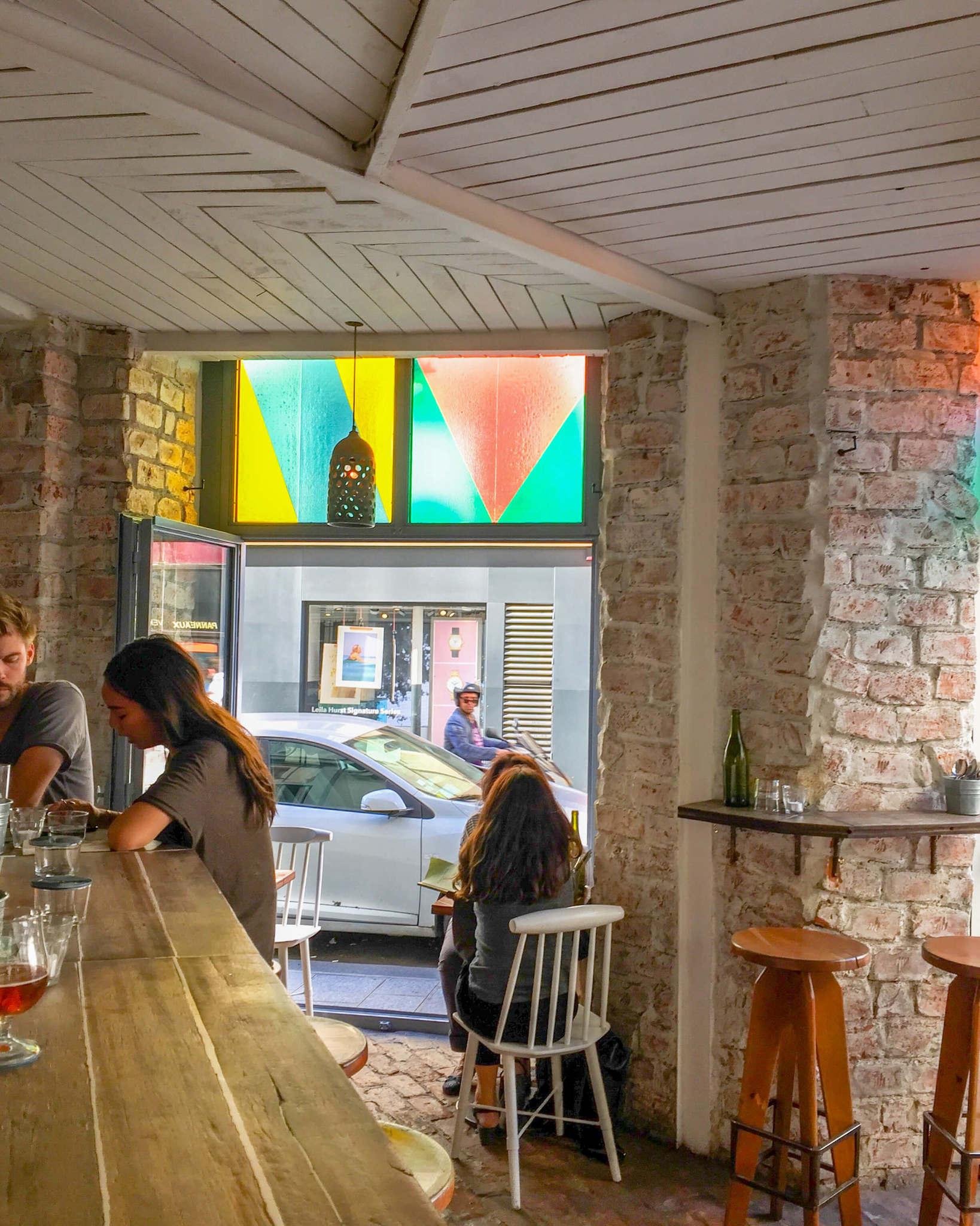 wine bar in paris