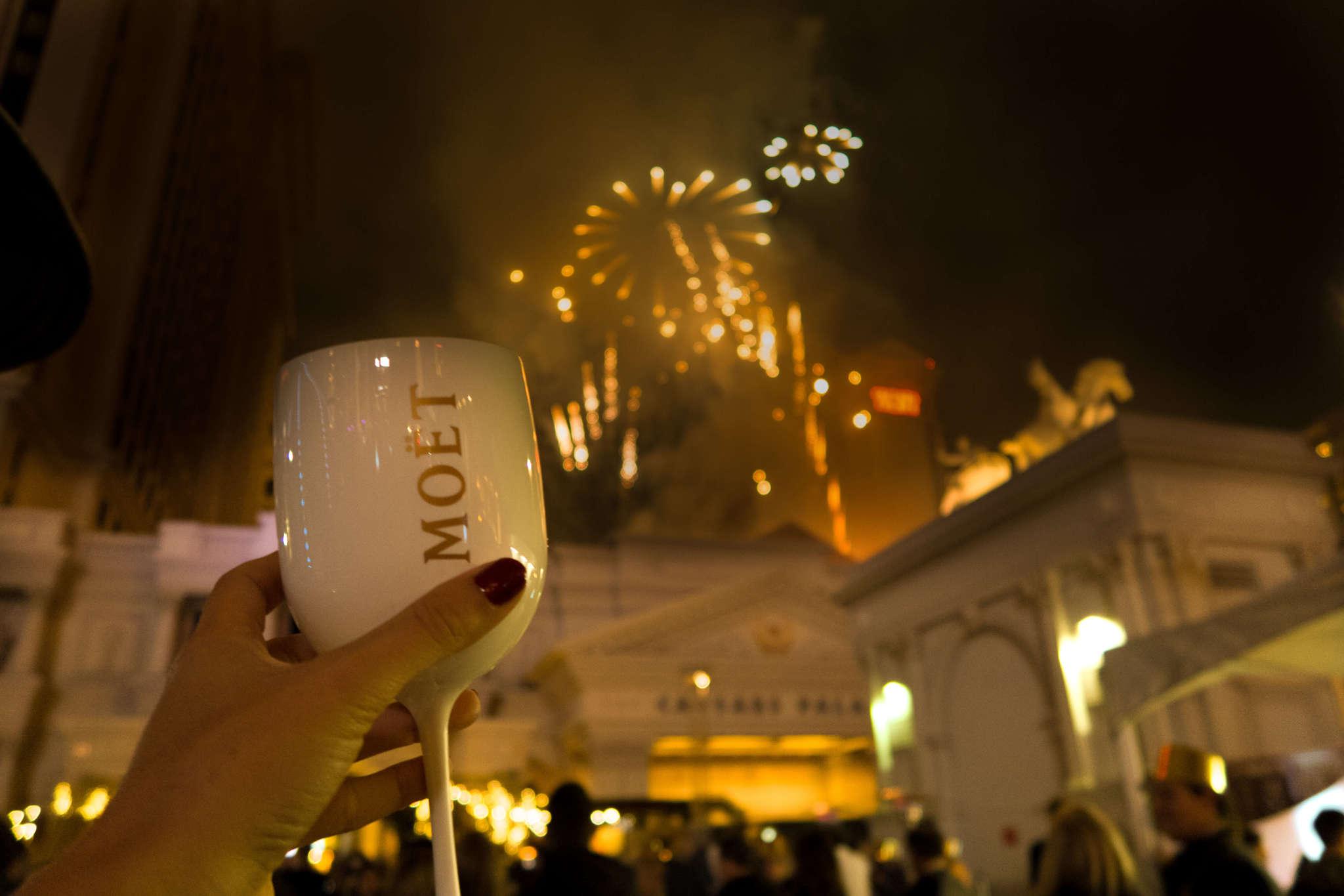 fireworks on NYE in vegas