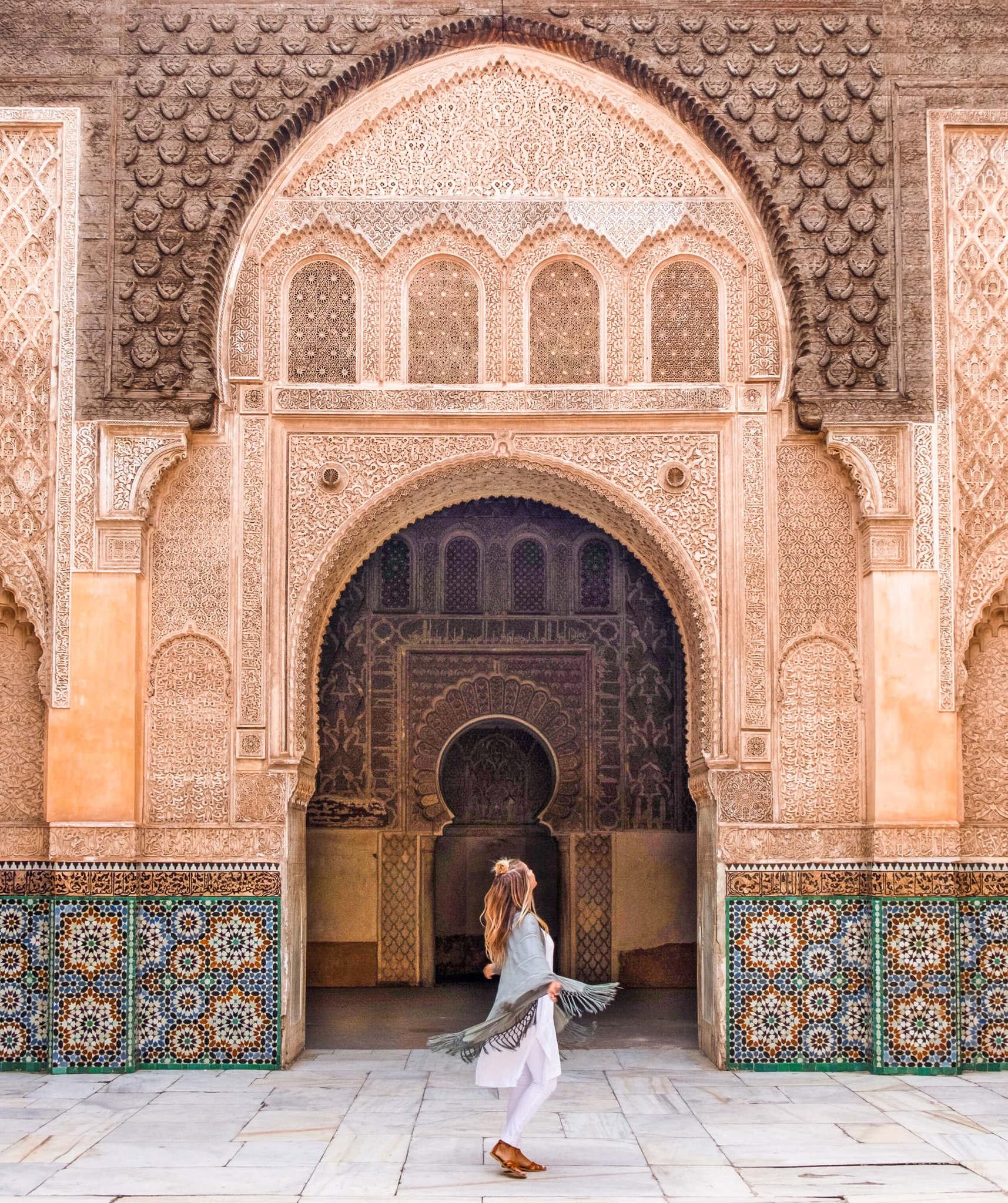blonde in morocco