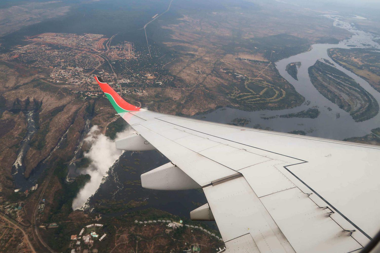plane ride over zambia