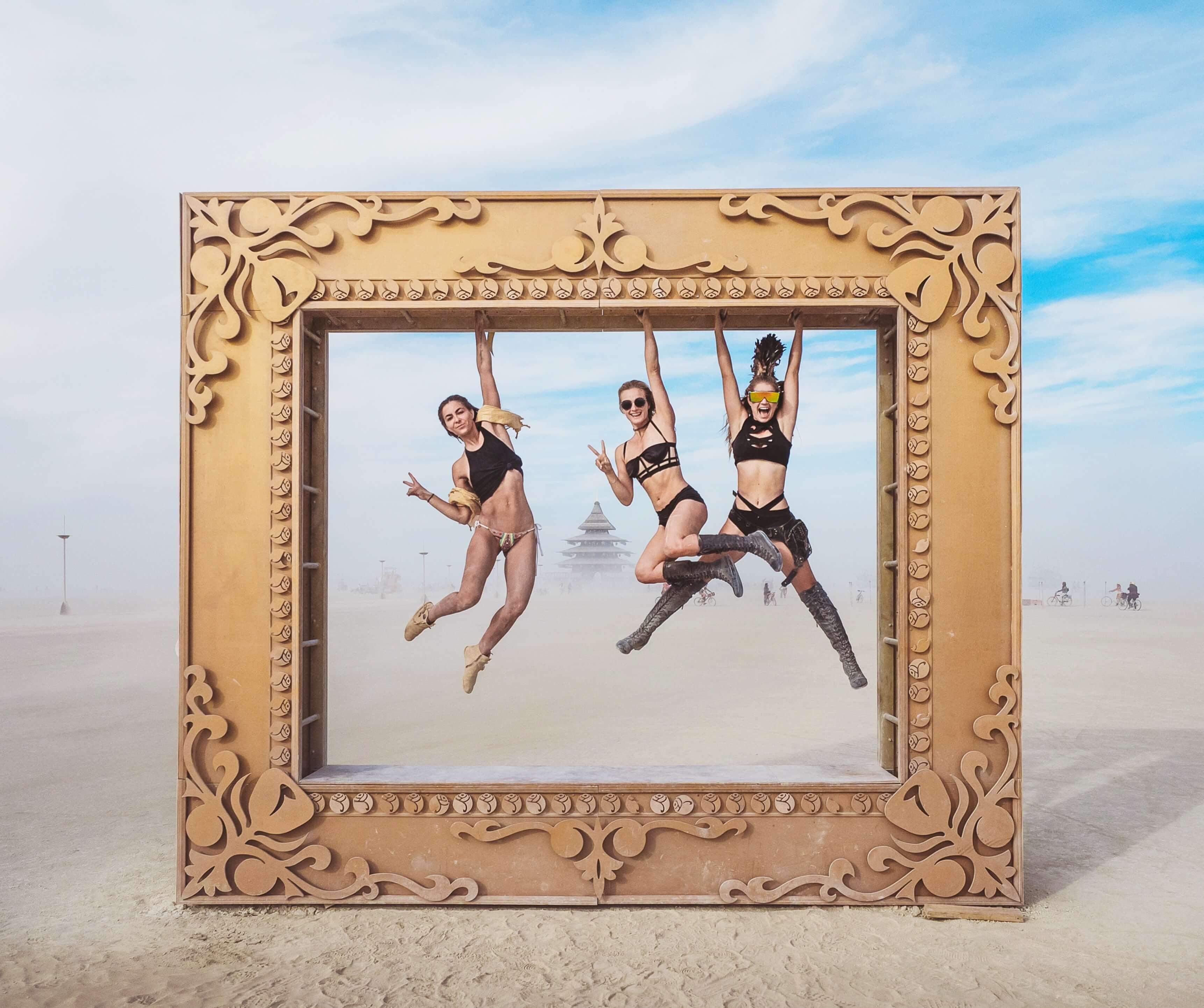 Burning Man Frame Installation