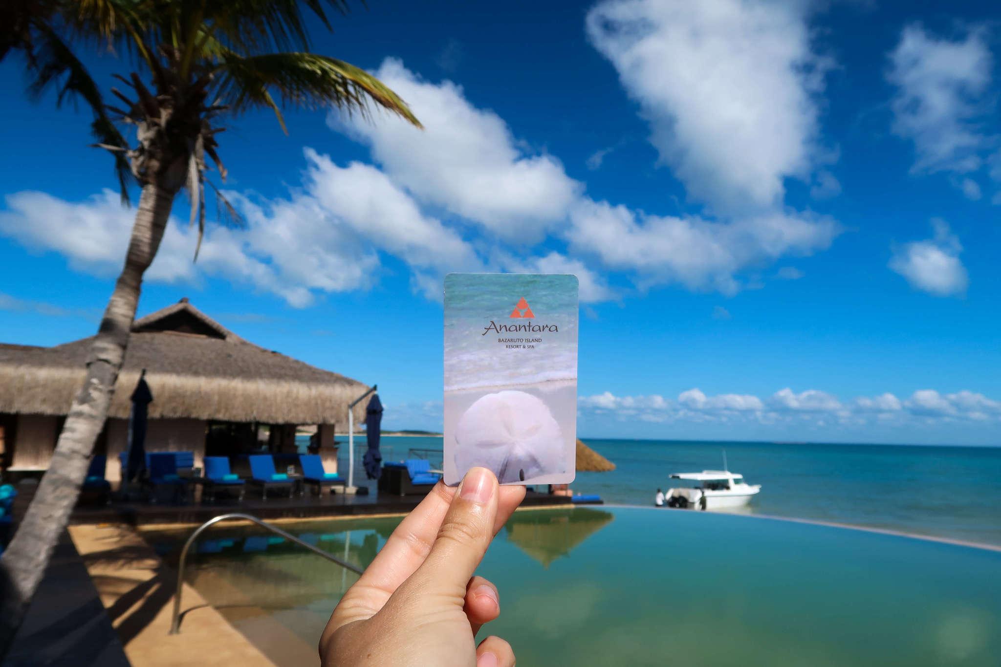Anatara Bazaruto hotel key card