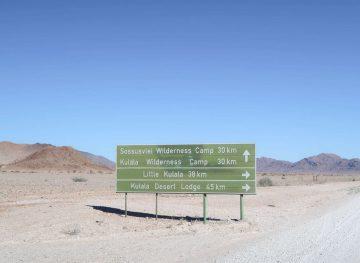 Namibian Road Sign