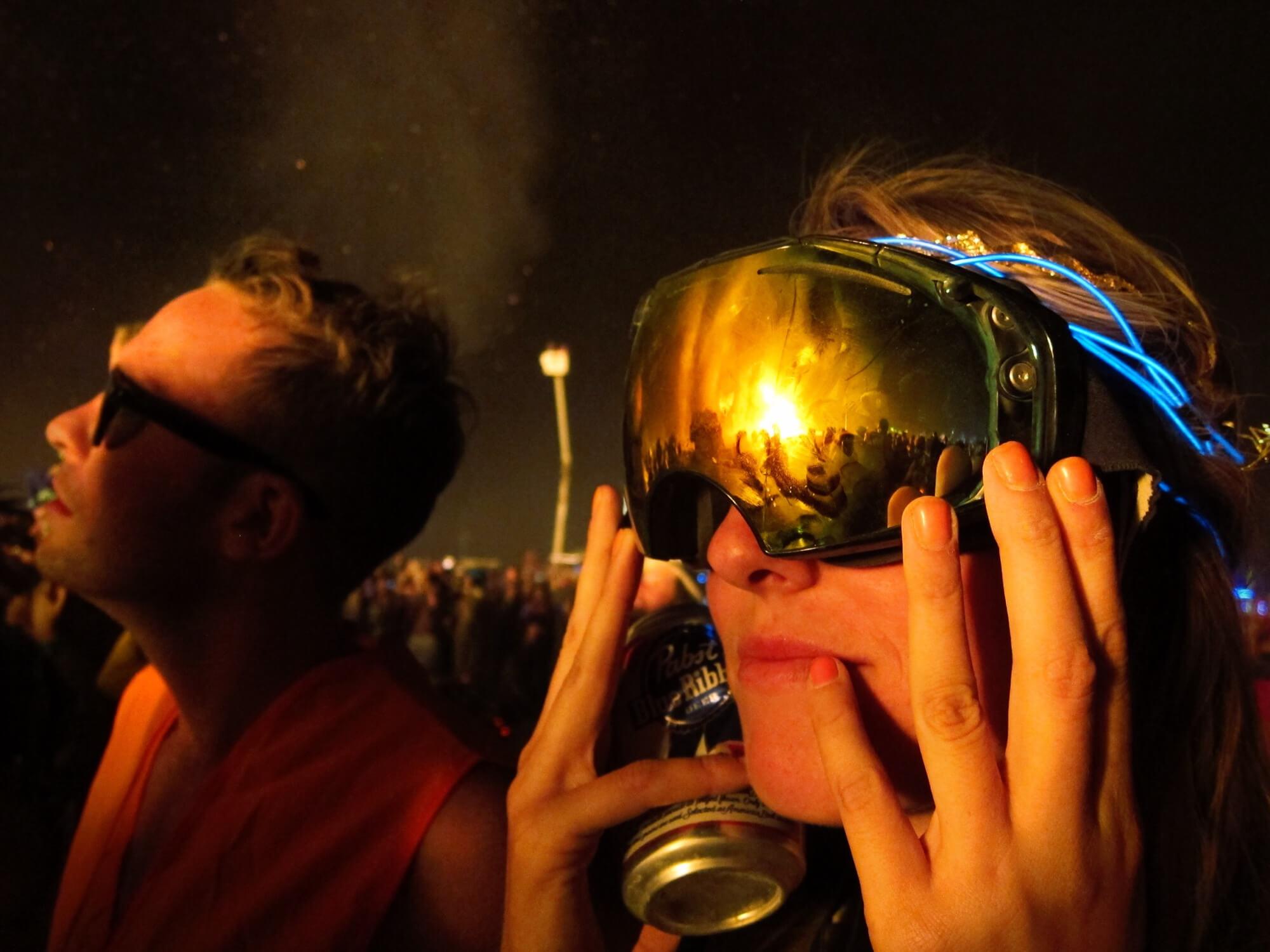 Nighttime at Burning Man