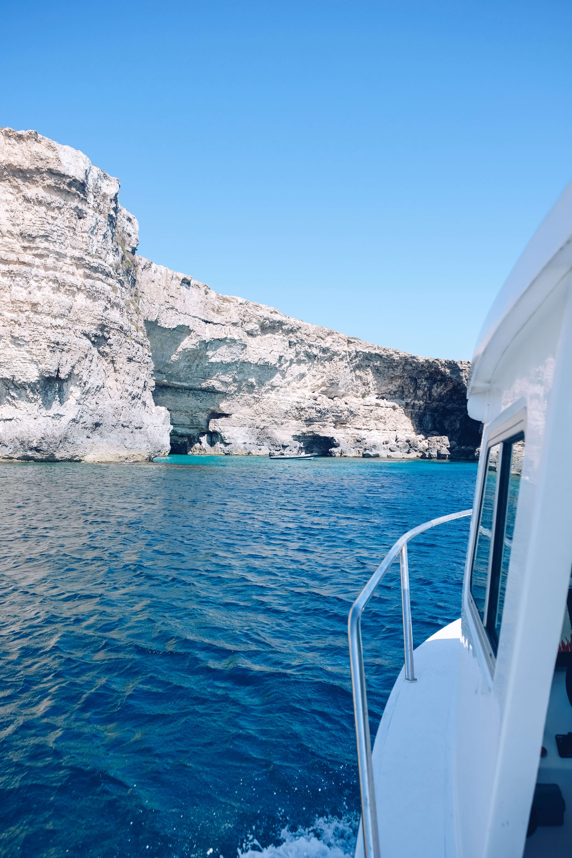 boat on blue lagoon