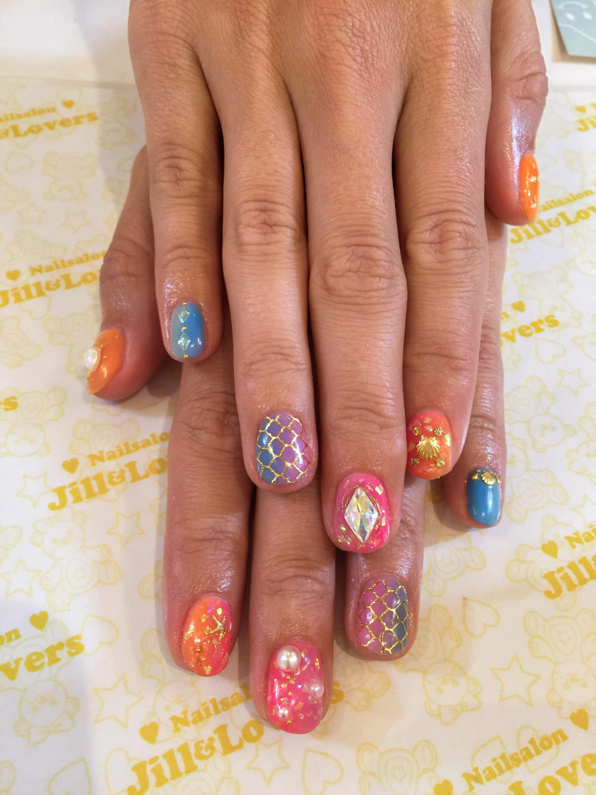 mermaid nails in japan