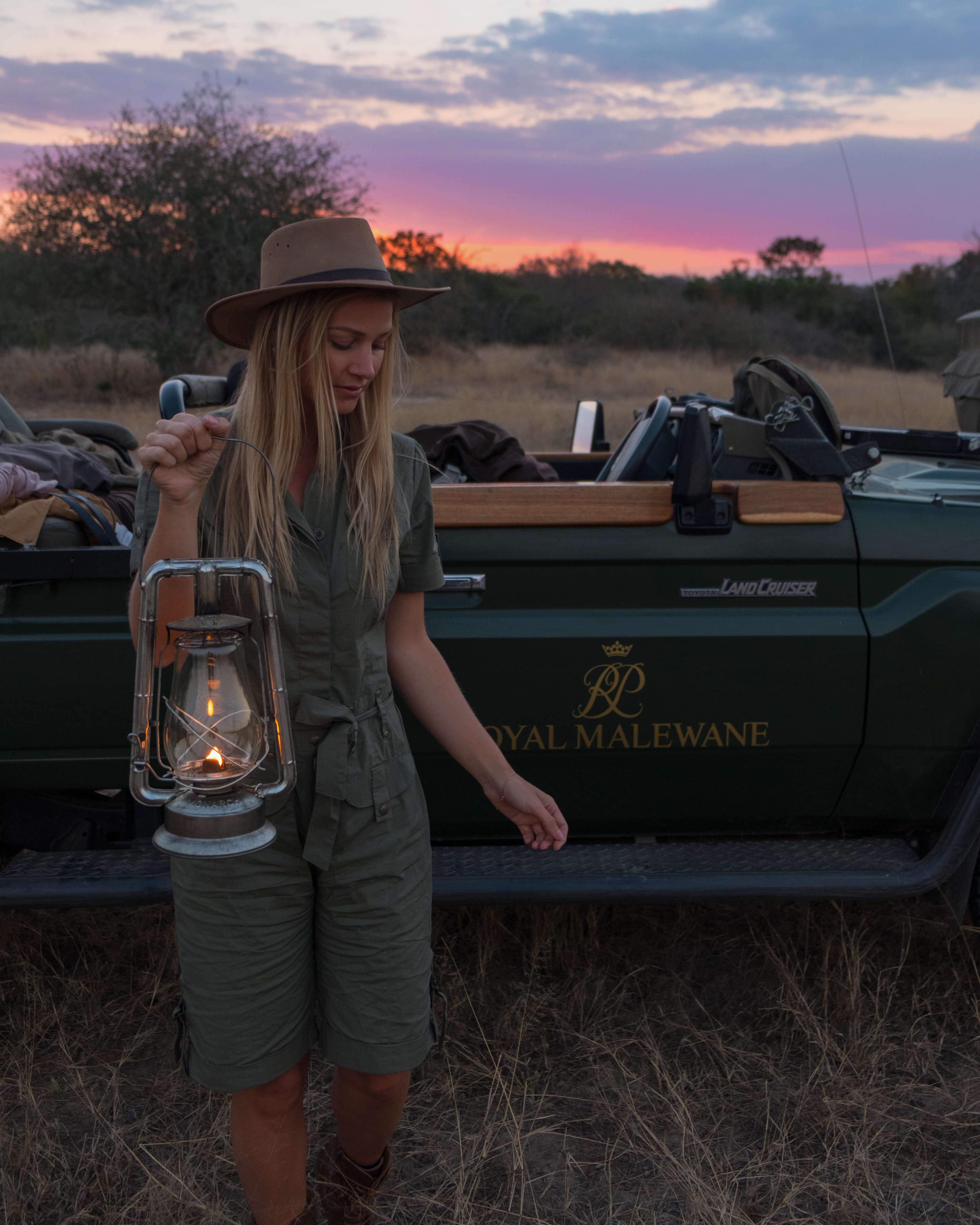 sunset safari blonde south africa