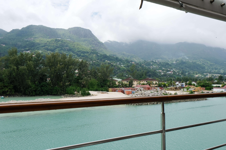Sailing into Saint Anne Island Seychelles