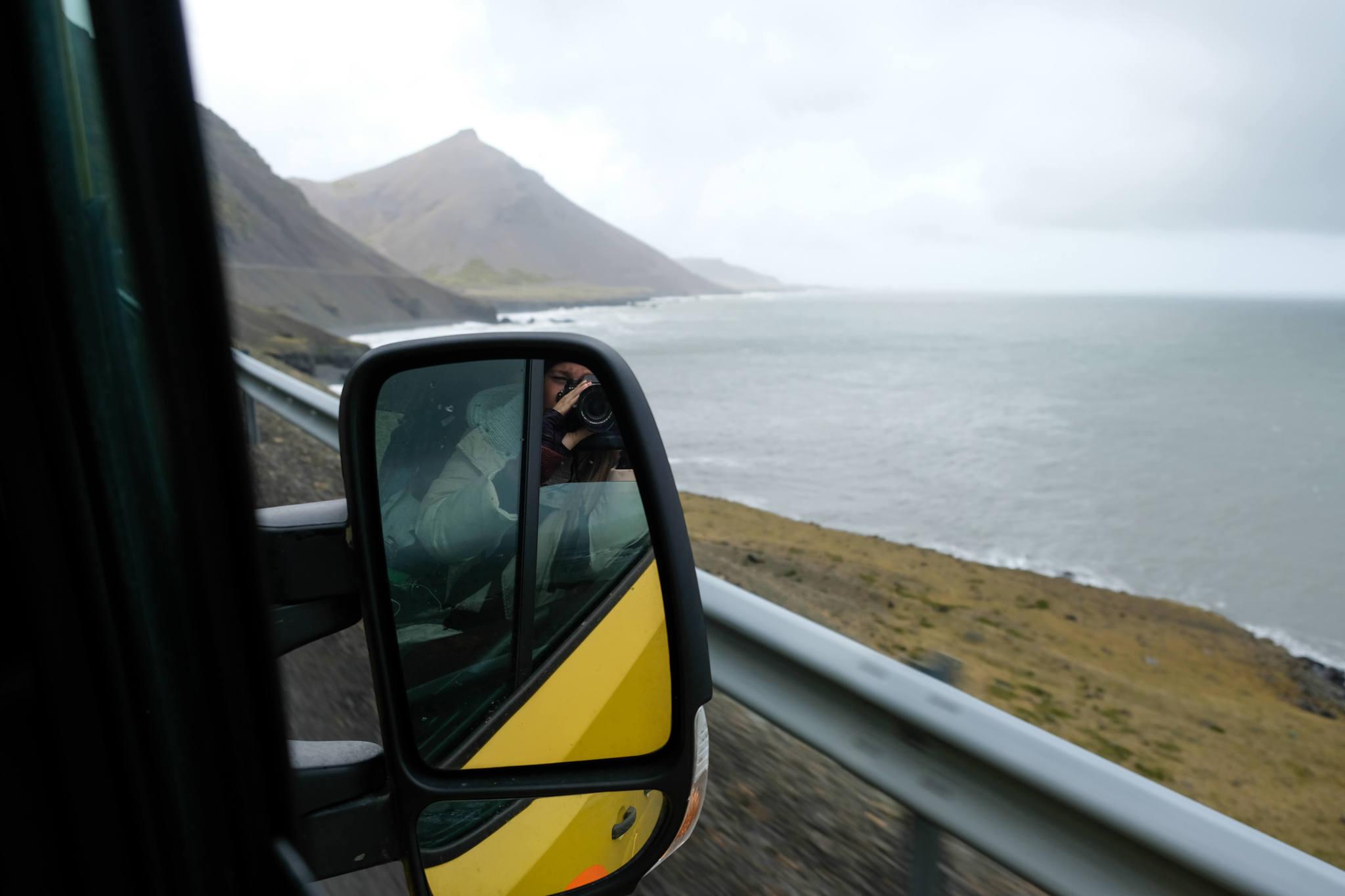 Driving Iceland's coastline