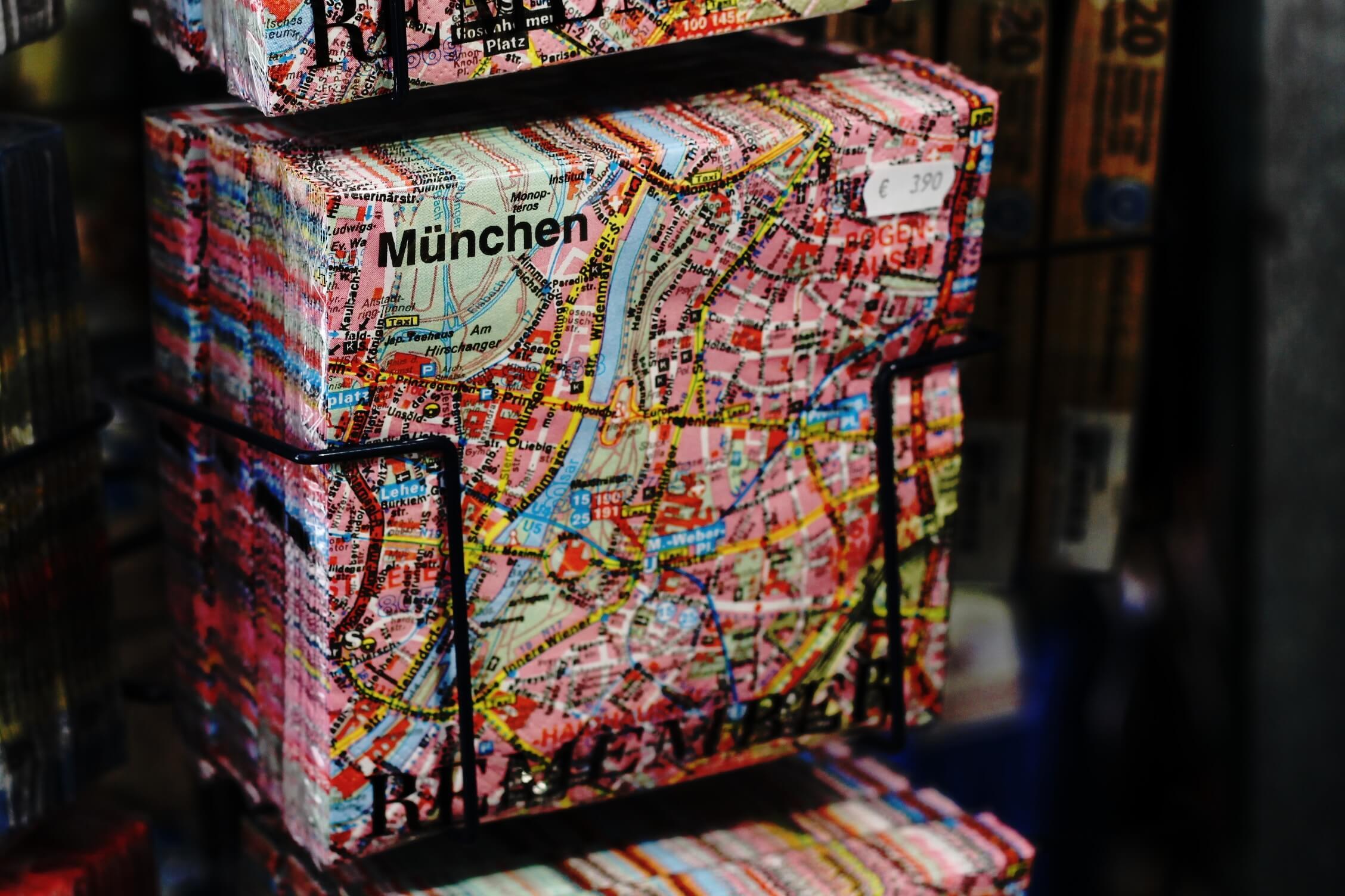 map to munich