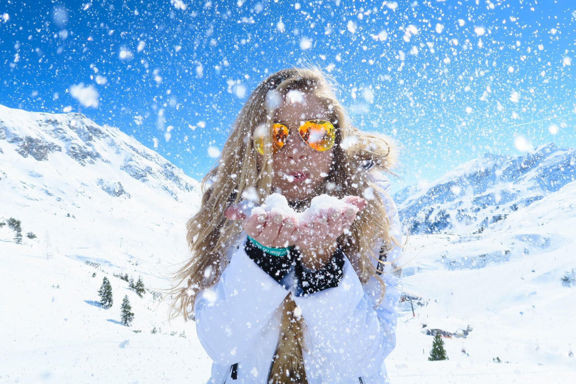 Blowing snow in Austria
