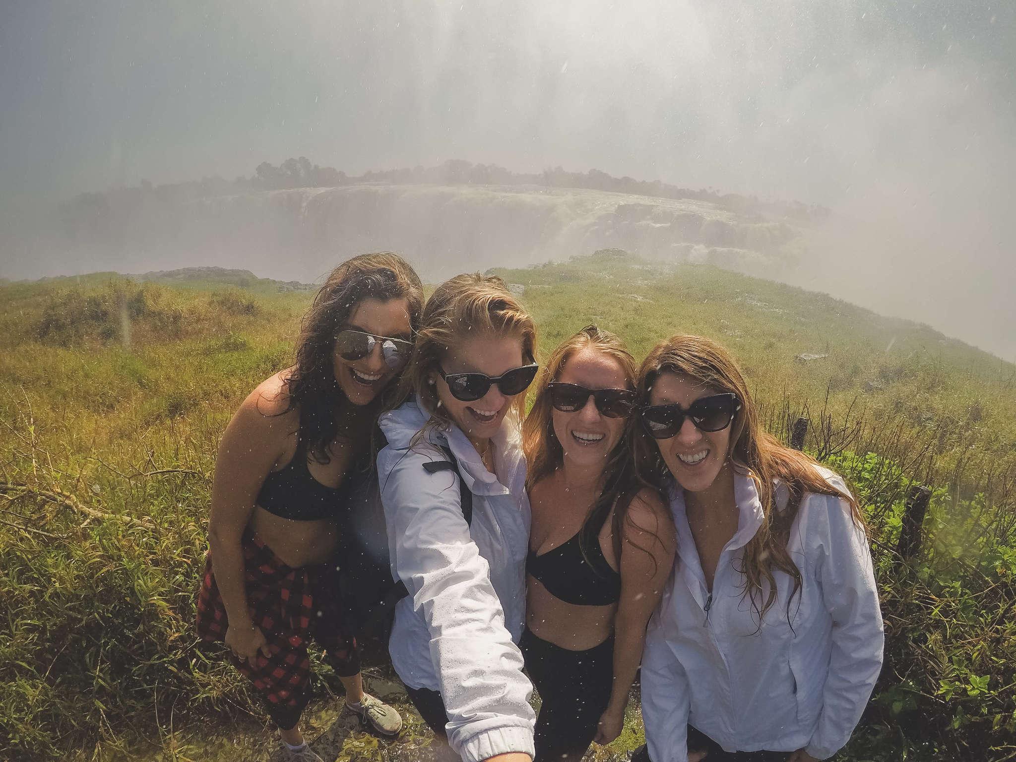 friends at victoria falls
