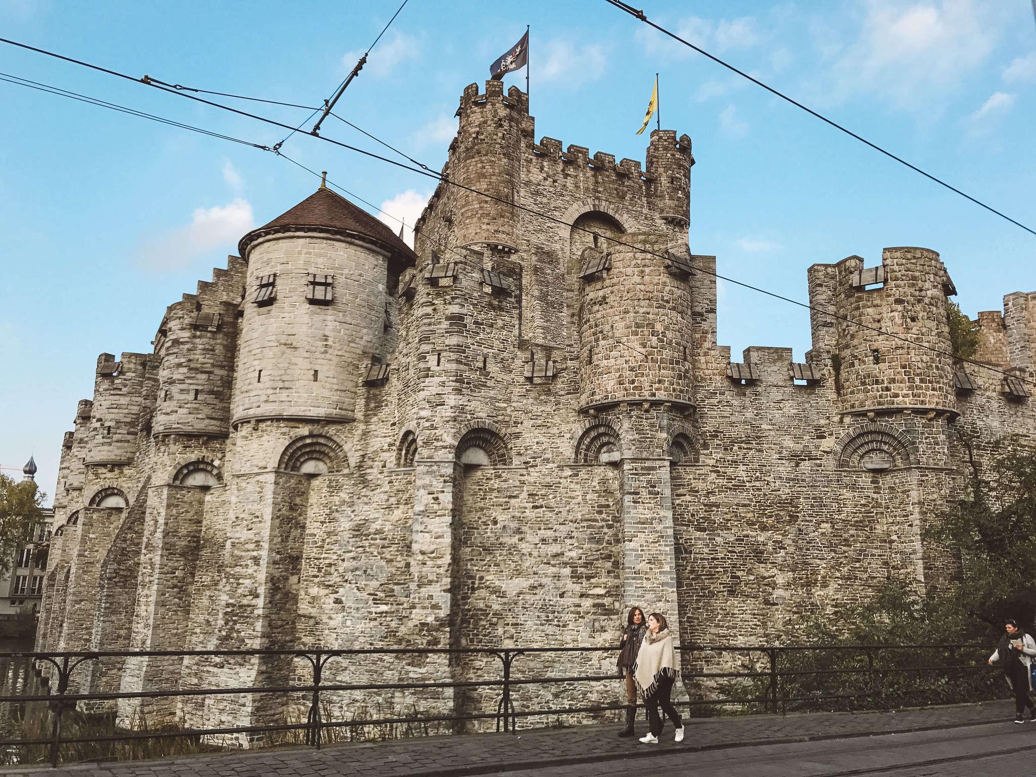 gravensteen castle in ghent belgium